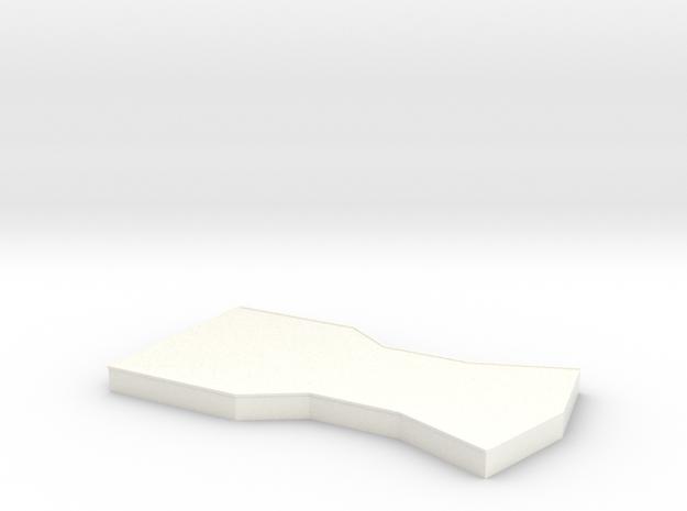 Bridge - Center Platform 25 in White Processed Versatile Plastic