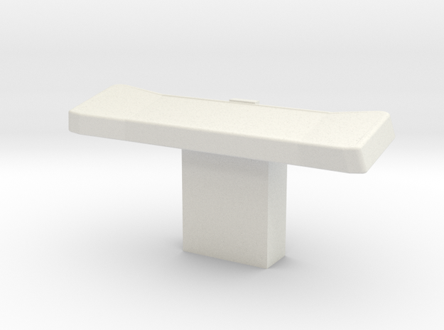 Console Type 10, Wide (Star Trek) in White Natural Versatile Plastic: 1:30