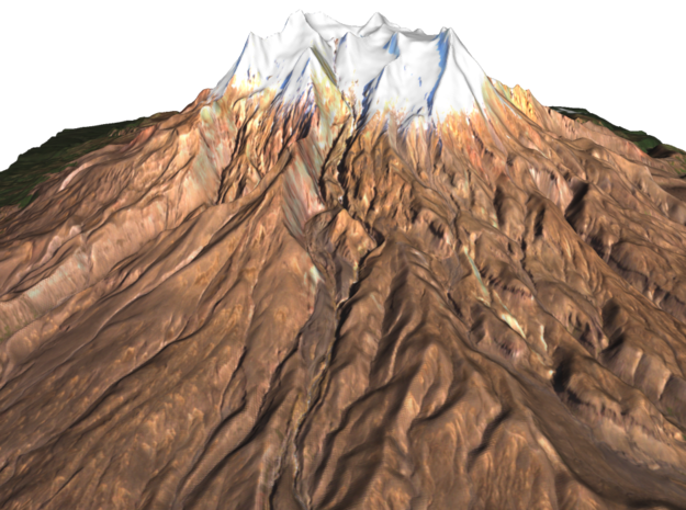 """Mount Ruapehu Map: 9"""" in Glossy Full Color Sandstone"""