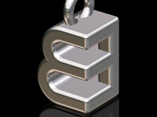 EEB #2 (3-d Logotype) in Polished Bronzed Silver Steel