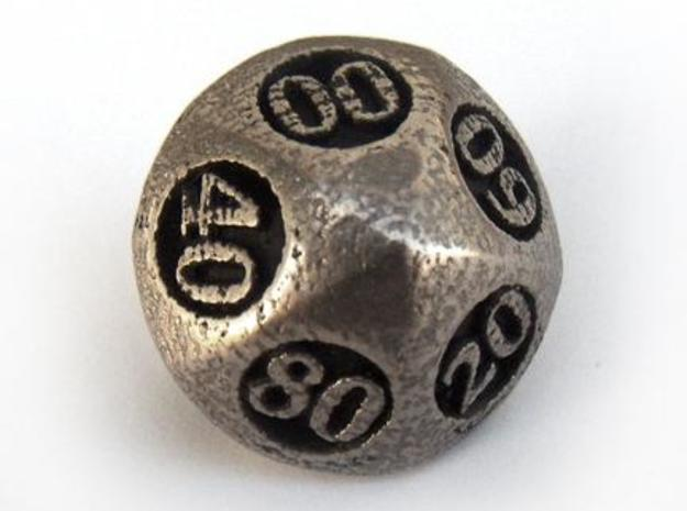 Overstuffed Decader Die10 3d printed In stainless steel and inked