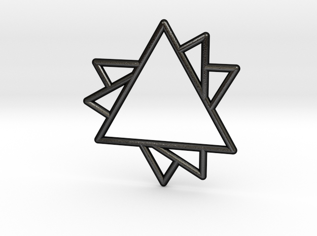 Overlapping Triangles Pendant