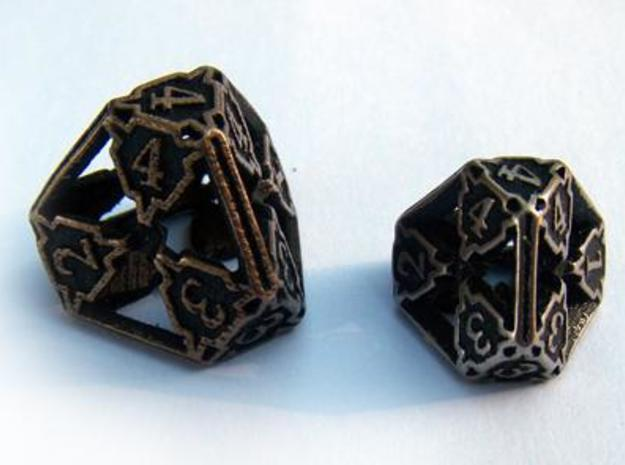 Large Die4 3d printed Compared to the standard-sized Die4