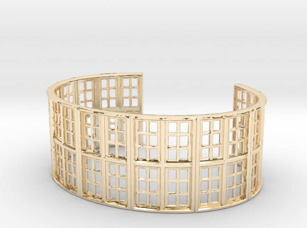 SMK Vilhelm Hammershøi Bracelet in 14k Gold Plated Brass: Medium