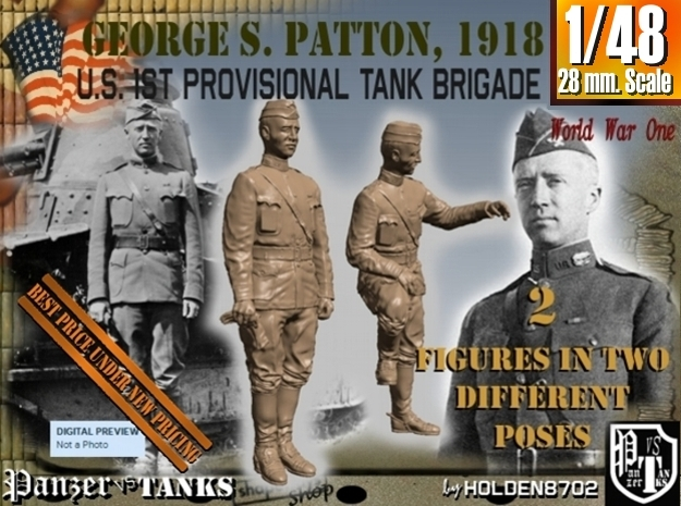1-48 George S Patton 1918 in Frosted Ultra Detail