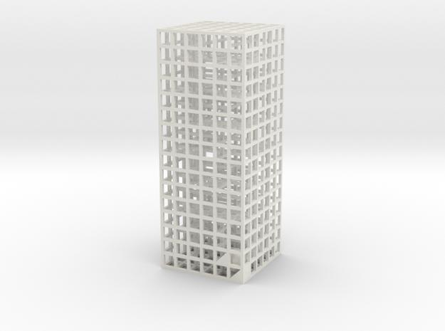 Maze 05, 3x3x8 in White Natural Versatile Plastic: Medium