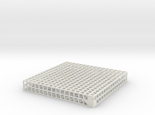 Maze 10, 8x8x1 in White Natural Versatile Plastic: Medium