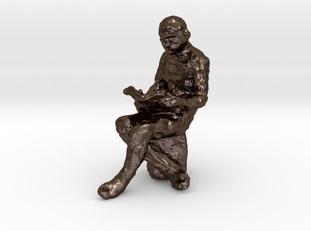 Reader 1-50 in Polished Bronze Steel