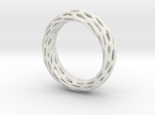 Trous Ring Sz 13 in White Natural Versatile Plastic