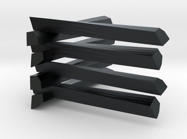 Split Rail Fence   in Black Hi-Def Acrylate