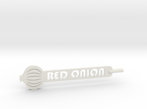 Red Onion Plant Stake in White Natural Versatile Plastic