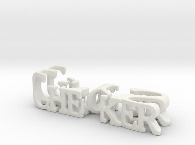 3dWordFlip: Checker/SYS in White Natural Versatile Plastic