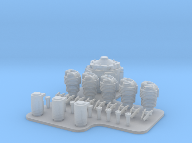 NKL-16 ENGINE V01 FOR PRINT in Smoothest Fine Detail Plastic