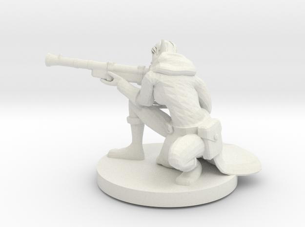 Elf Female Gunslinger / Sniper in White Natural Versatile Plastic