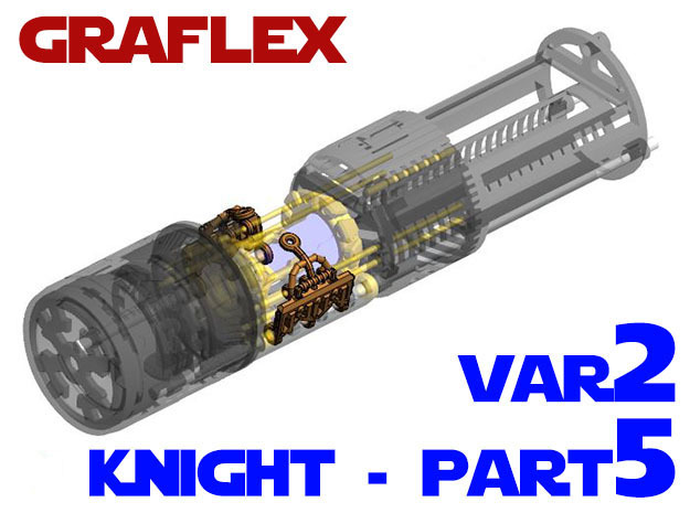 Graflex Knight Chassis - Variant 2 - Part 5 option in White Strong & Flexible