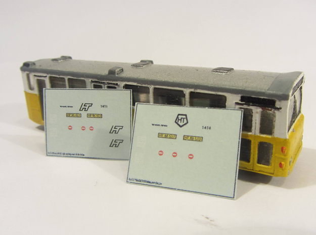Volvo B10m HT Bus 2-2-1 N scale 3d printed Correct decals can be obtained through skilteskoven.dk