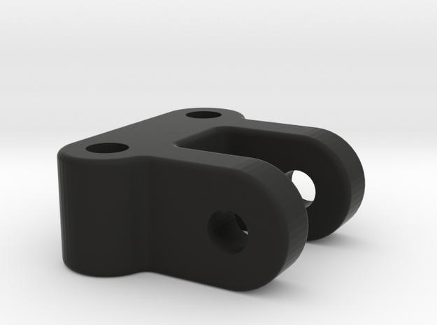 Yokomo YD-2 pitch control system - upper mount in Black Natural Versatile Plastic