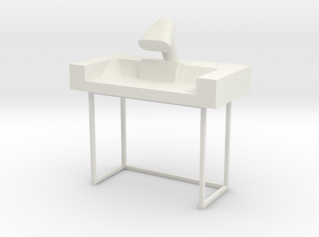 Main Mission Desk Type 2 S1 (Space: 1999), 1/30 in White Natural Versatile Plastic