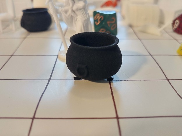 Tabletop: Cauldron with Feet in Black Strong & Flexible