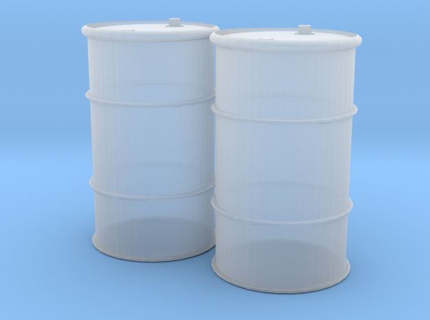 HO 55 Gallon Drum set of 2 in Frosted Ultra Detail