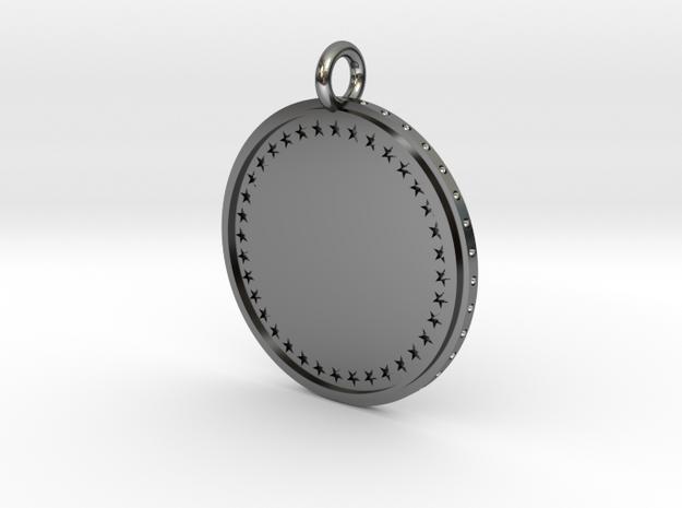 Medal in Fine Detail Polished Silver