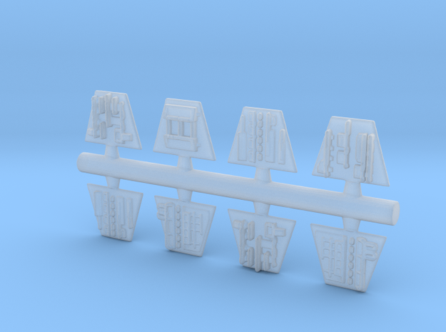 Trench Plates for Zvezda Star Destroyer in Smooth Fine Detail Plastic