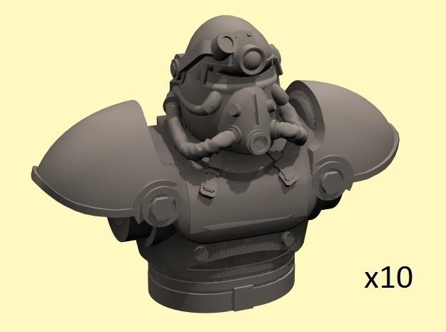 28mm Wastefall power armor torso+head