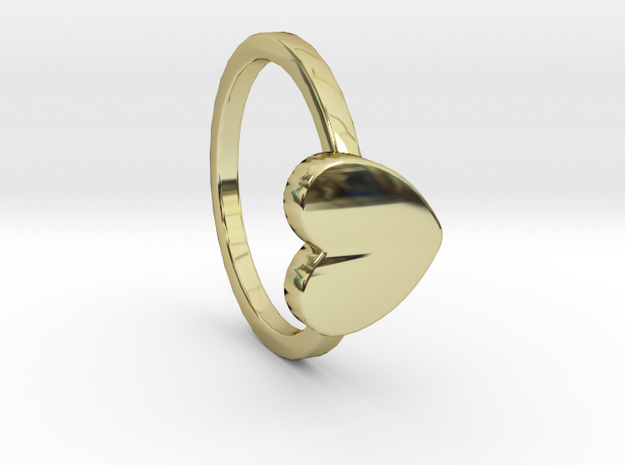 Heart Ring Size 6 in 18k Gold Plated