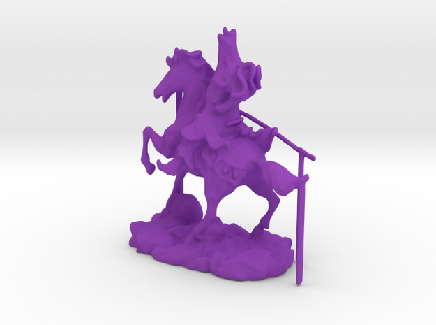 Chinese Knight 2 in Purple Processed Versatile Plastic