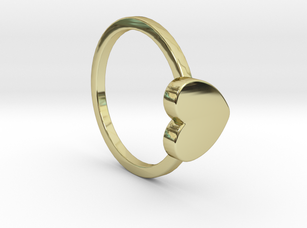 Heart Ring Size 7.5 in 18k Gold Plated