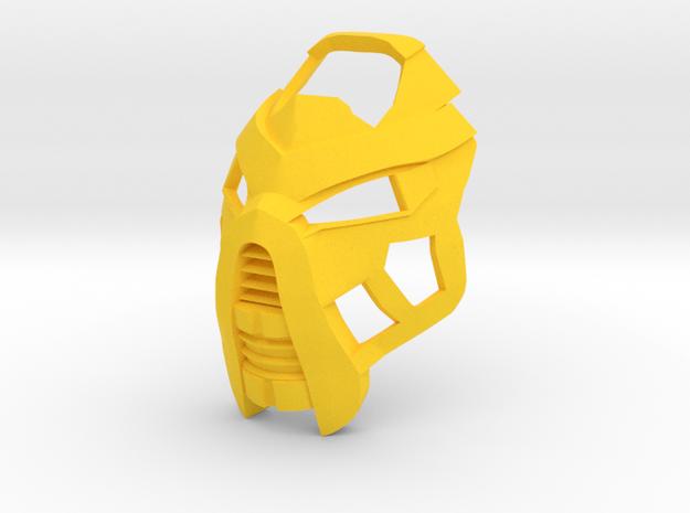 Noble Kanohi Hau (Turaga Lhikan) in Yellow Processed Versatile Plastic