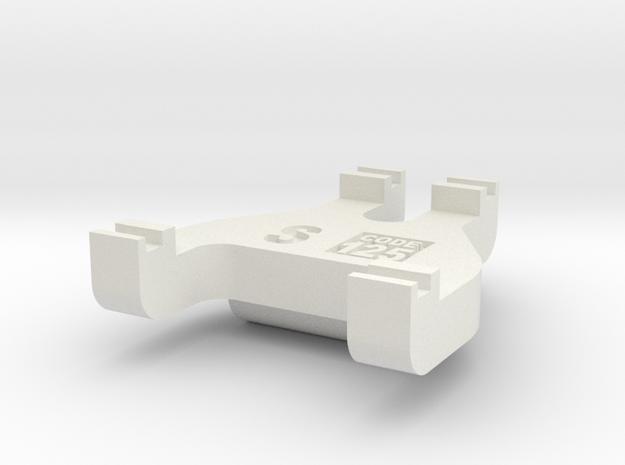 S Scale Track Gauge - Code 125 in White Natural Versatile Plastic