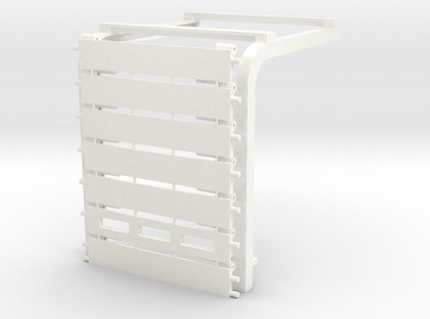 1/64 Overhead Door 12'x14' (2.25w X 2.65h) Kit in White Processed Versatile Plastic