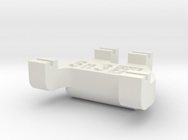 Sn3 Track Gauge - Code 70 in White Natural Versatile Plastic
