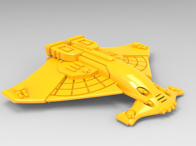 Harbinger class cruiser in Yellow Strong & Flexible Polished: Small
