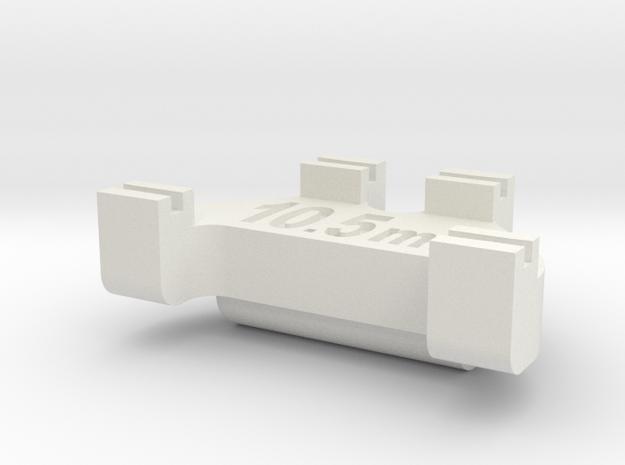 HOn3 Track Gauge - Code 70 in White Natural Versatile Plastic