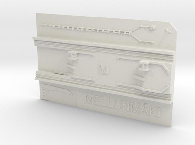 Mellunmäki Metroasema in White Natural Versatile Plastic