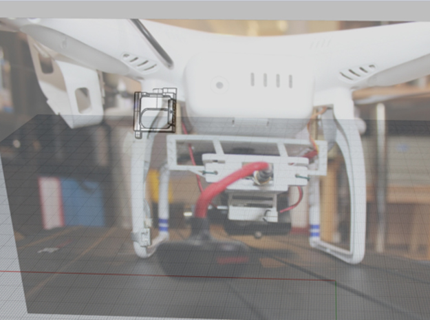 DJI Phantom 1.5 v2 LED Mount 3d printed