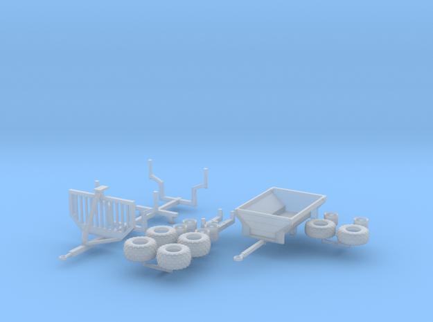 H0 1:87 ATV Anhänger Set