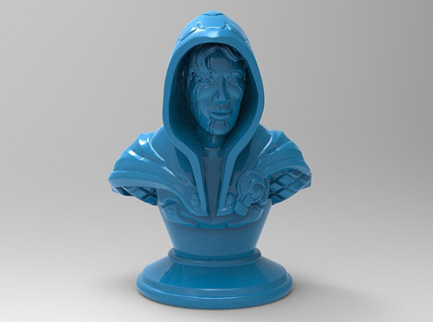 Rogue-Mage Bust in Blue Strong & Flexible Polished: Medium