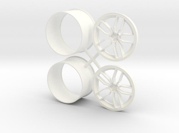 Devils Rim 1/12 Rear in White Processed Versatile Plastic