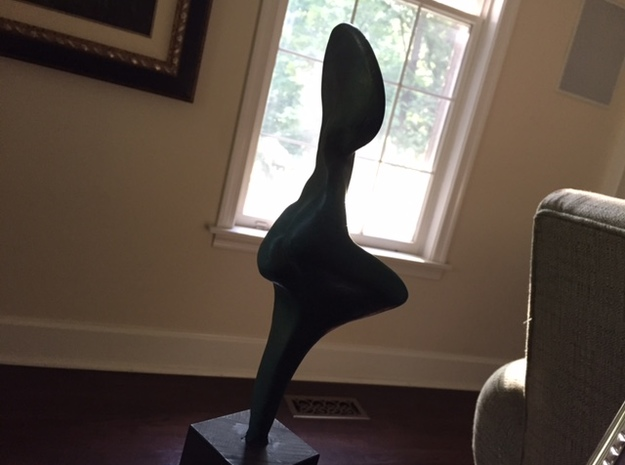 Fine Art Abstract Lady in Black Strong & Flexible