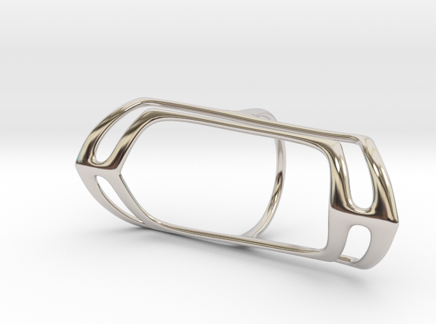 Splints - Oval (20 mm) in Rhodium Plated Brass