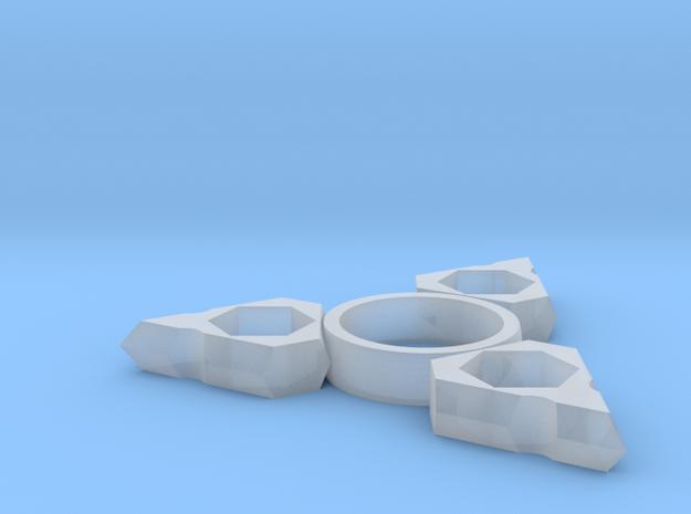 3 Arm Fidget Spinner in Smooth Fine Detail Plastic