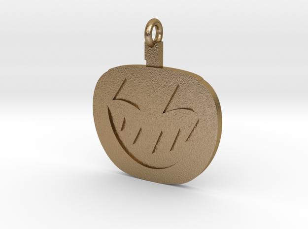 Jack-O-Lantern Pendant in Polished Gold Steel