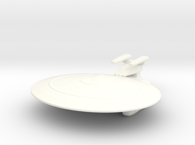 Nebula Class (Prototype #2) 1/7000 in White Strong & Flexible Polished