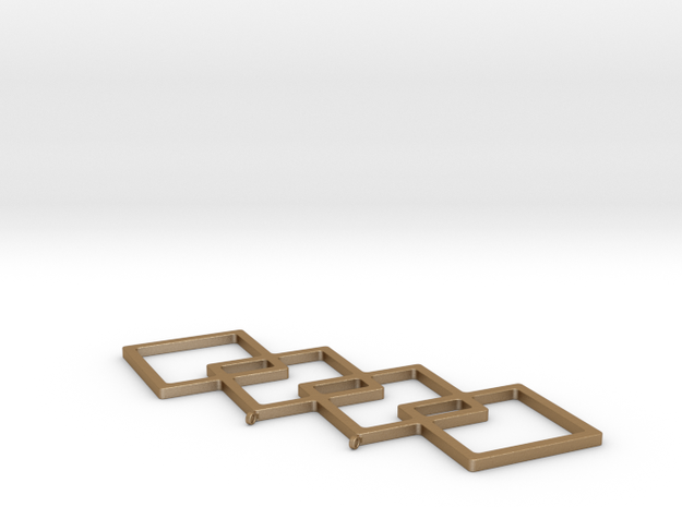 Angled Boxes in Matte Gold Steel