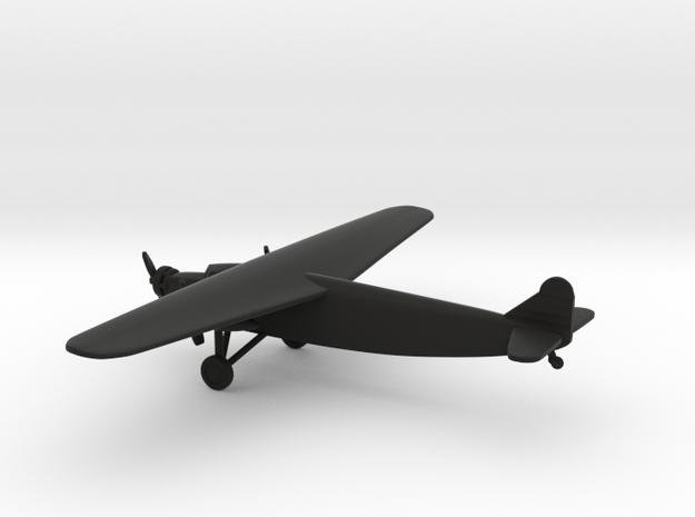 Fokker F.XVIII in Black Natural Versatile Plastic: 6mm