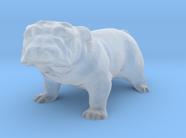 S Scale Bull Dog in Smooth Fine Detail Plastic