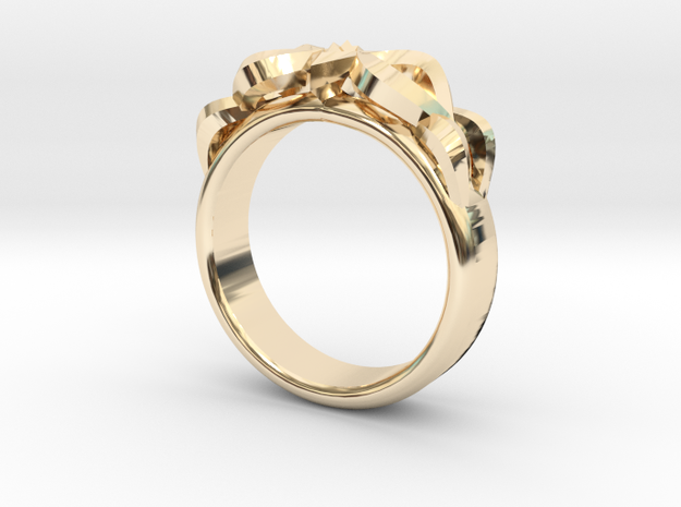 Designer Ring #3 in 14k Gold Plated Brass: 8 / 56.75